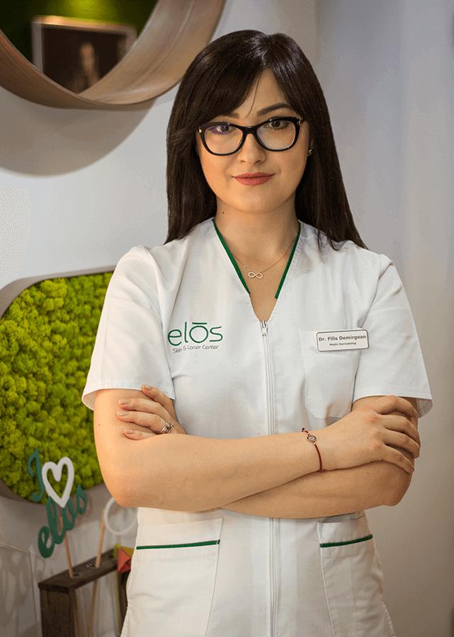 Doctorul dermatolog Filis Demirgean este specializata in rejuvenare vaginala in cadrul clinicii Elos Skin&Laser Center